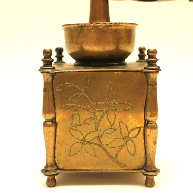 19th Century European Solid Brass Coffee Mill - Image 7 of 8