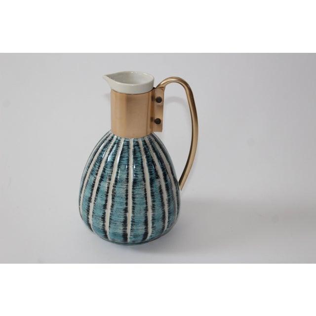 1957 Vintage C Miller Mid Century Ceramic Warming Carafe Decanter - Image 8 of 10