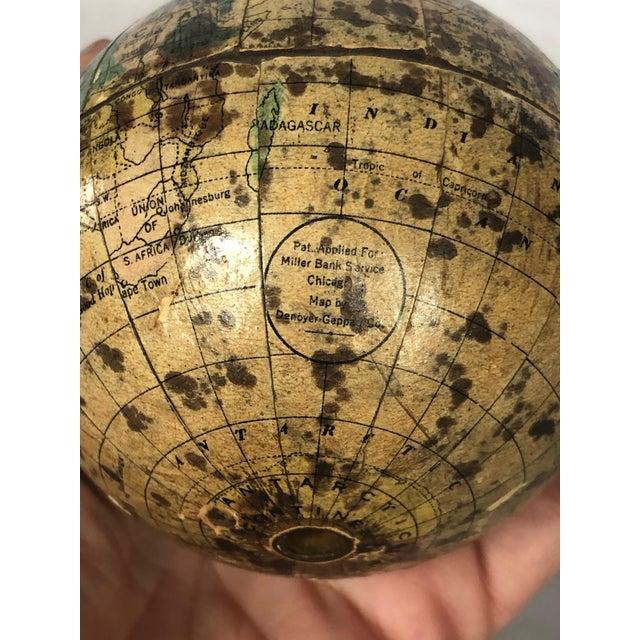 Vintage World Desk Globe Die Cast Metal Bank For Sale - Image 12 of 13