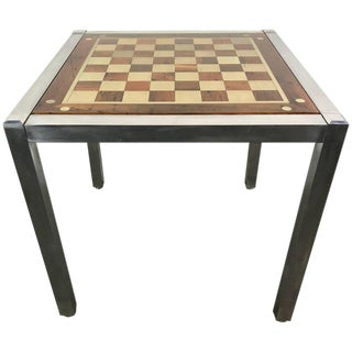 Midcentury Chrome Parsons Games Table