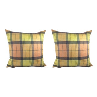 Sandra Jordan Prima Alpaca Plaid Pillows - a Pair