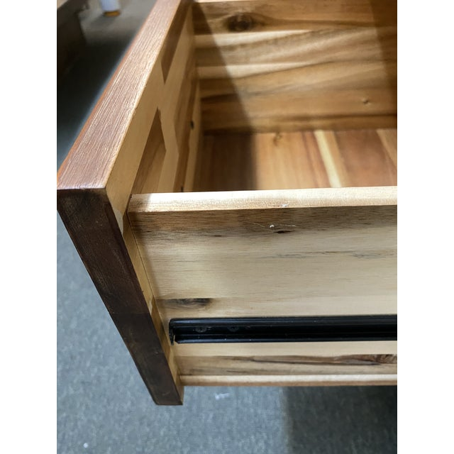 Reclaimed Wood Champagne Desk For Sale In San Francisco - Image 6 of 10
