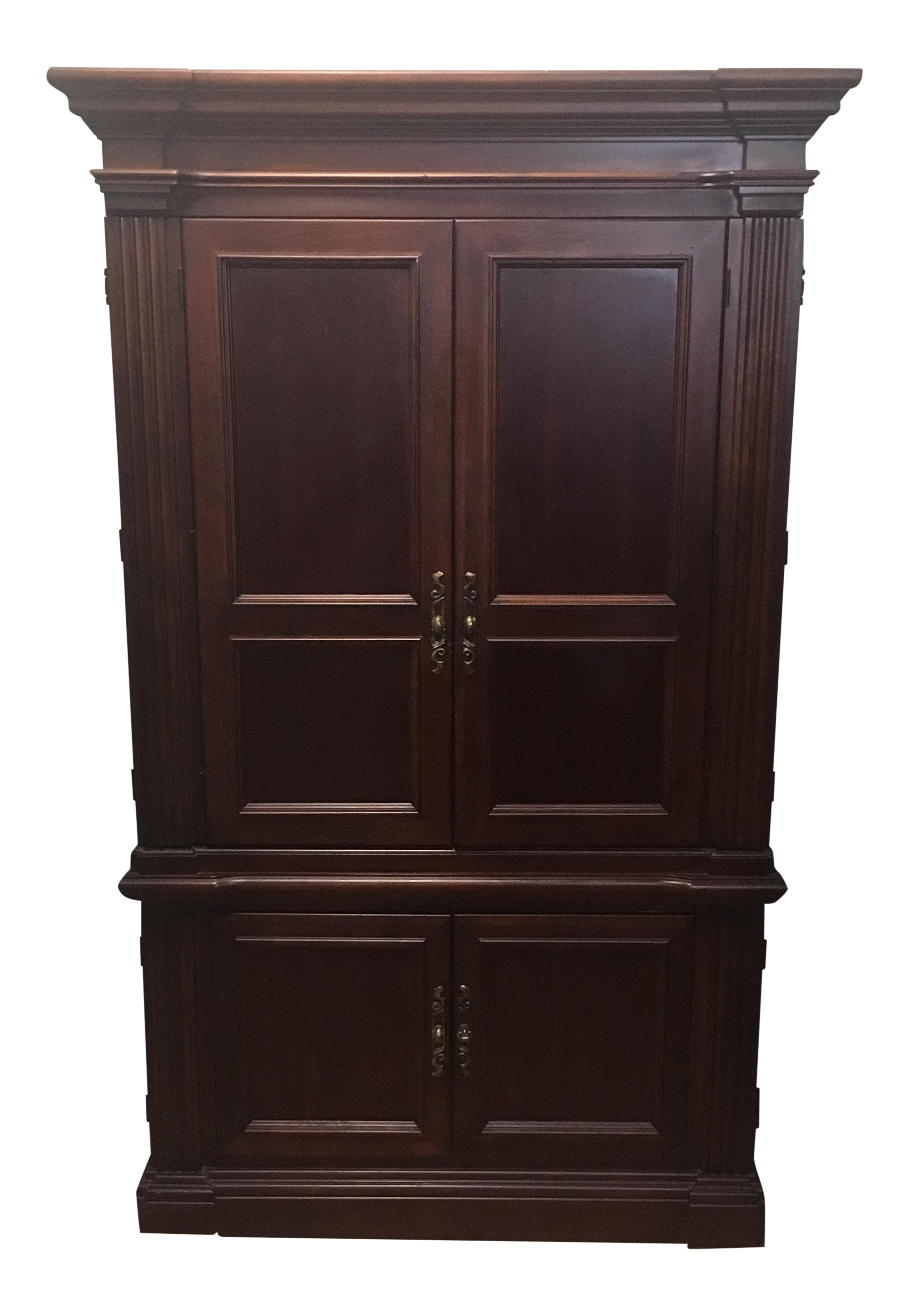 Superieur Baker Dark Wood Armoire Cabinet   Image 1 Of 11