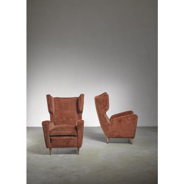 Paolo Buffa Paolo Buffa Pair of Lounge Chairs, Italy, 1950s For Sale - Image 4 of 5