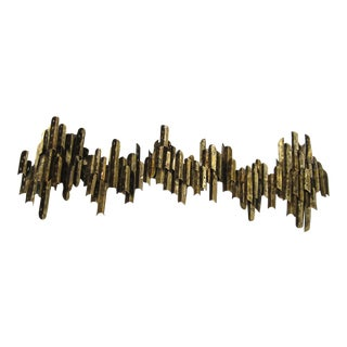 1960's Tom Greene Brutalist Wall Sconce For Sale