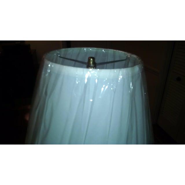 Aqua & White Ceramic Table Lamp - Image 7 of 7