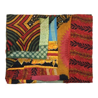 Psychedelic Rug and Relic Kantha Quilt