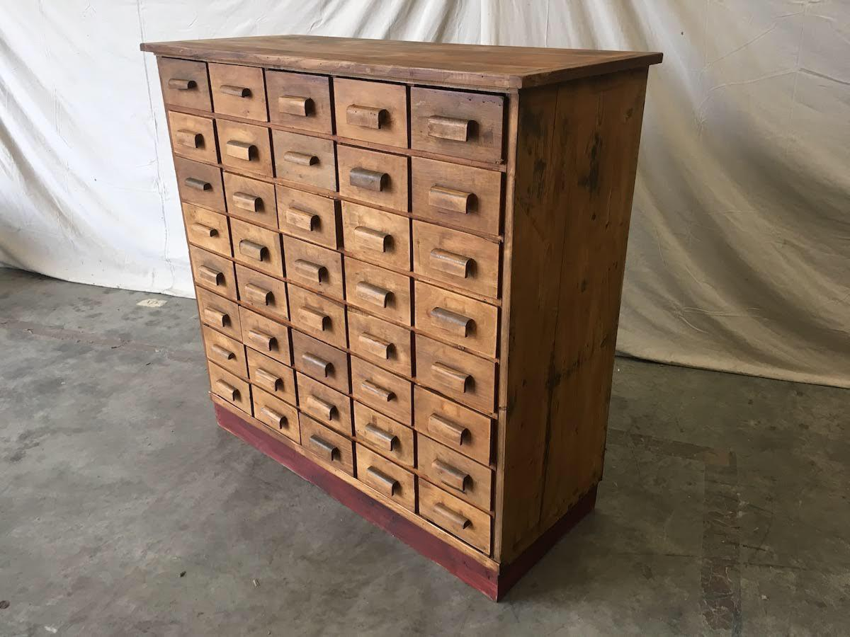 Antique Pine Apothecary Cabinet   Image 6 Of 11