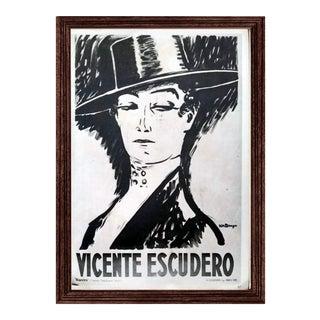 "Vintage Kees Van Dongen ""Vincente Escudero"" Poster"