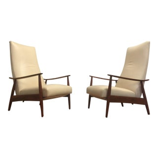 Milo Baughman James Inc. Leather Recliners - A Pair