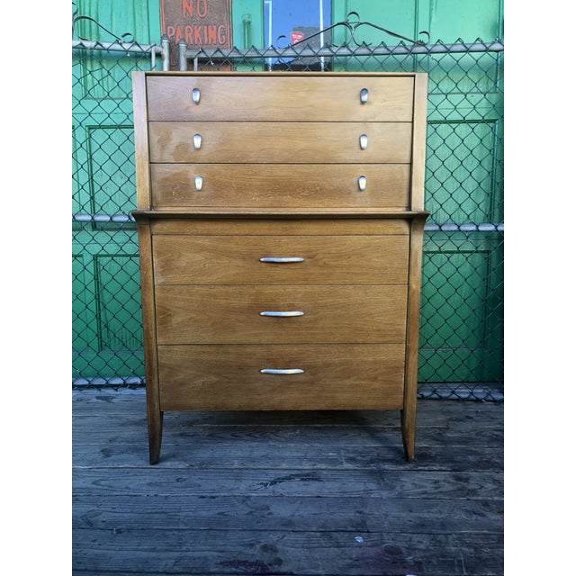1960s Mid Century Modern Profile Highboy Dresser by Drexel For Sale - Image 13 of 13