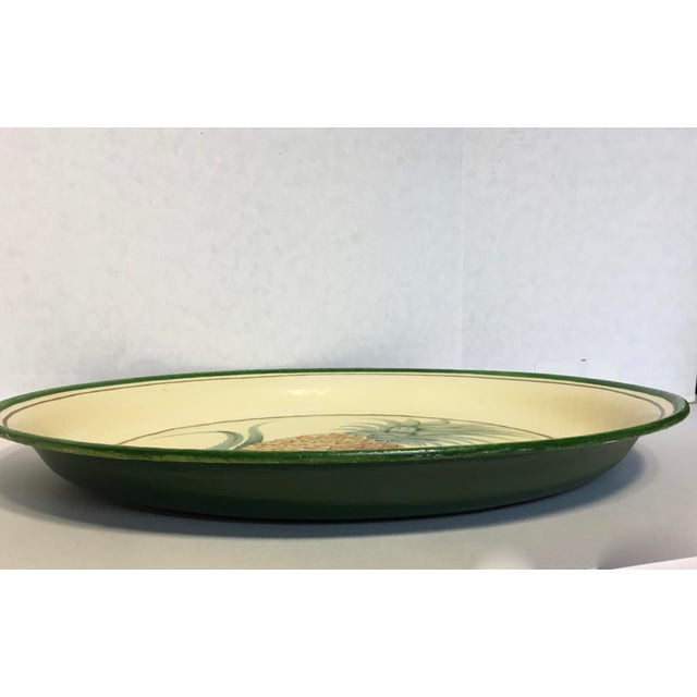 Hand-Painted Pineapple Serving Tray - Image 4 of 6