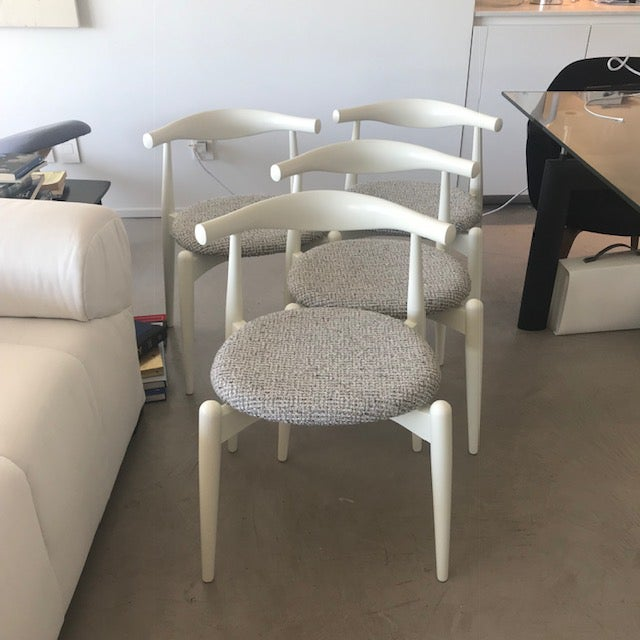 Modern Hans Wegner for Carl Hansen and Sons Original Ch20 Elbow Chairs- Set of 4 For Sale - Image 13 of 13