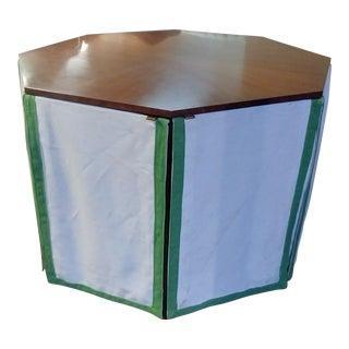 Henredon Furniture Havenhurst Mark D. Sikes Walnut Octagonal Skirted Table For Sale