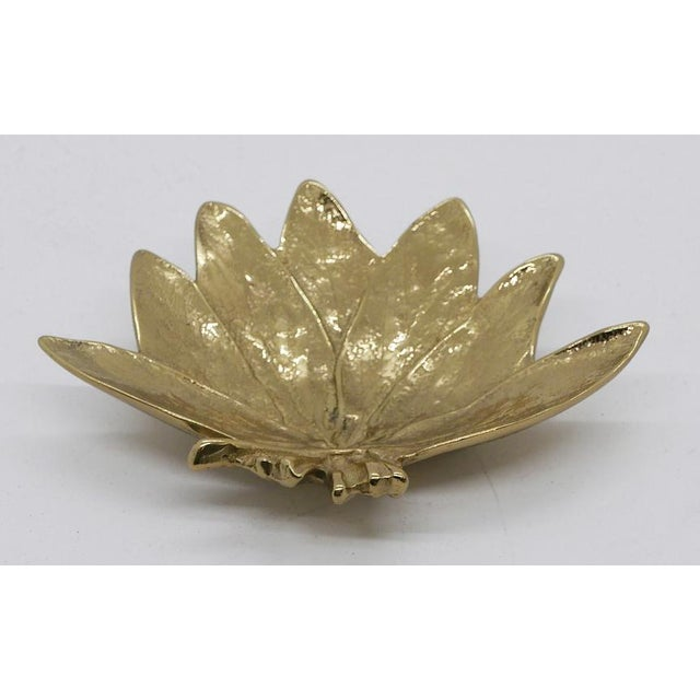 """""""Sage"""" Virginia Metalcrafters Brass Dish For Sale In Palm Springs - Image 6 of 6"""