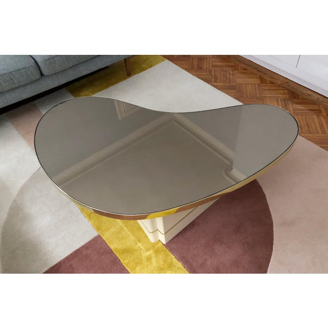 Mid-Century Modern Mirrored Kidney Coffee Table For Sale - Image 12 of 12