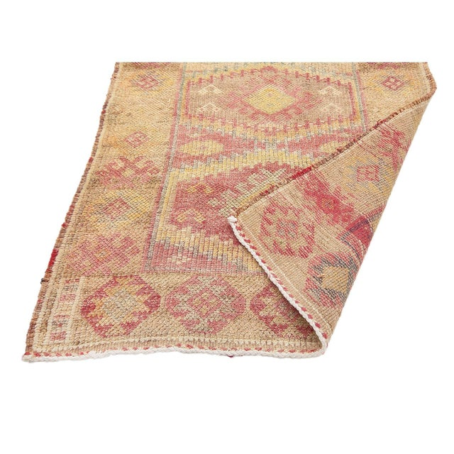 Mid 20th Century Faded Vintage Decorative Herki Runner For Sale - Image 5 of 7
