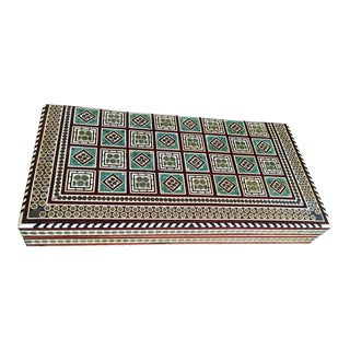 Egyptian Inlaid Backgammon Set For Sale