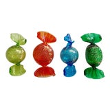 Image of Vintage Italian Murano Glass Large Candies - Set of 4 For Sale