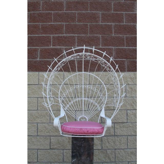 Vintage Metal Hanging Peacock Chair - Image 3 of 10