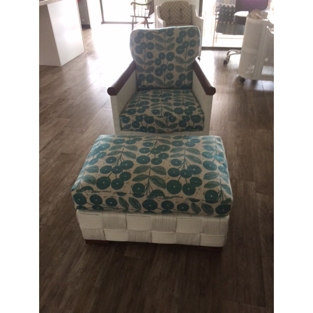 Angelo Donghia Donghia Block Island 2 Armchairs and Ottoman W/New Goose Down Pillows For Sale - Image 4 of 8
