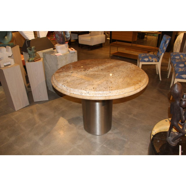 Pace Collection Brushed Steel and Granite Top Table For Sale In Palm Springs - Image 6 of 6