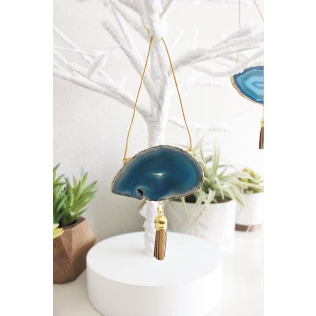 Modern Boho Agate Holiday Ornaments - Set of 3 - Image 4 of 5
