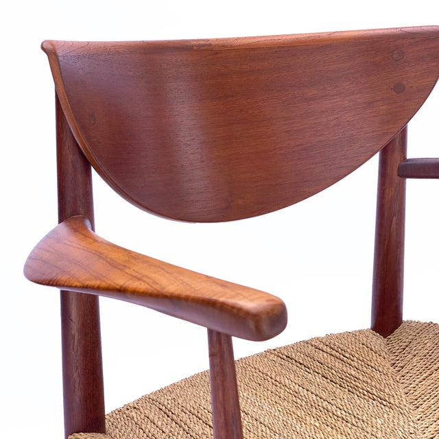 Boho Chic 1960s Vintage Danish Teak Chair For Sale - Image 3 of 6