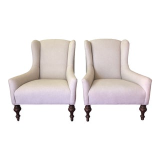 Lee Industries Upholstered Armchairs - a Pair For Sale