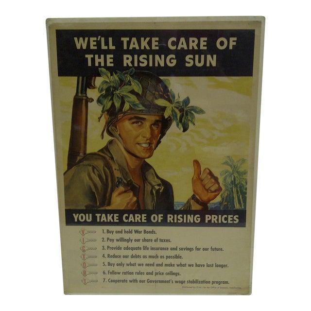 Vintage World War II War Bonds Poster For Sale