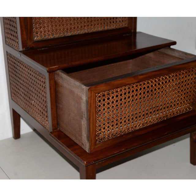 Late 18th Century 18th to 19th Century French Mahogany & Cane Steps For Sale - Image 5 of 9