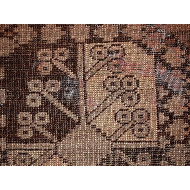1900s handmade antique Afghan Ersari rug 8.6' X 11.8' For Sale - Image 9 of 13