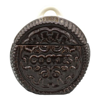 Mid 20th Century Vintage Cookies and Cream Cookie Jar For Sale