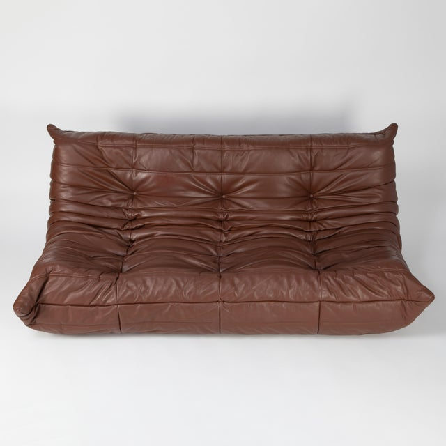Extraordinarily comfortable classic sofa from French designer Michel Ducaroy's Togo line for Ligne Roset. Designed in...