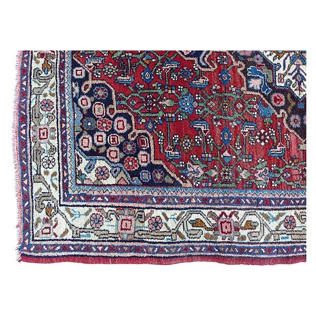 "Persian Bijar Rug - 4'10"" X 3'5"" For Sale In New York - Image 6 of 6"
