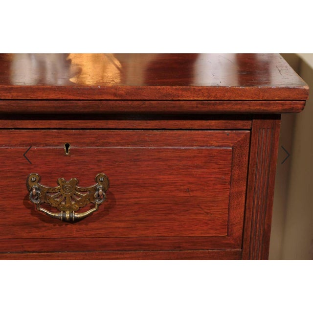 19th Century English Mahogany Chest For Sale - Image 9 of 10
