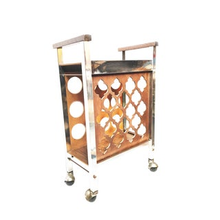 1970s Contemporary Wooden Wine Rack/Bar Cart For Sale