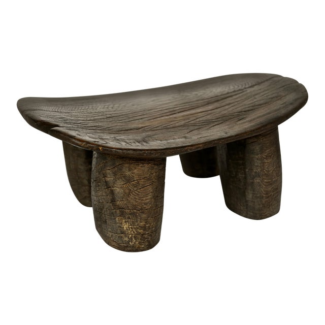 African Lobi Wood Stool For Sale