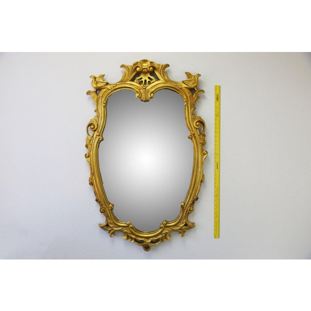 Gold Vintage Gold Gilt Wood Mirror For Sale - Image 8 of 9