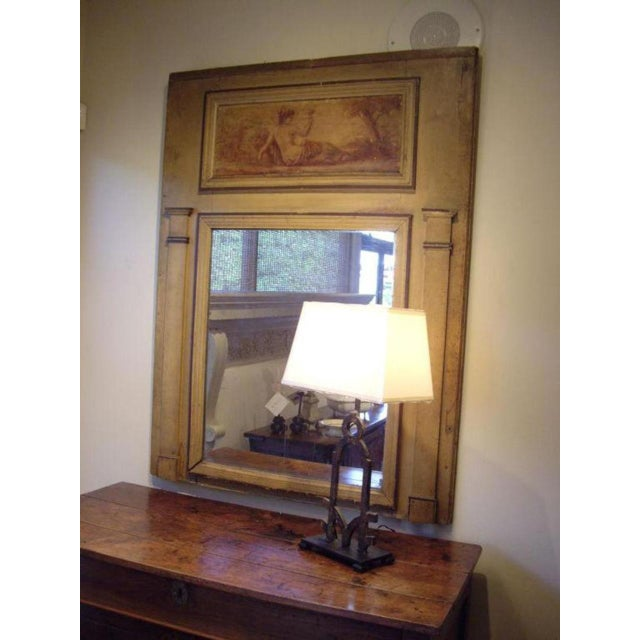 Early 19th Century Early 19th C. Directoire' Trumeau Mirror For Sale - Image 5 of 6