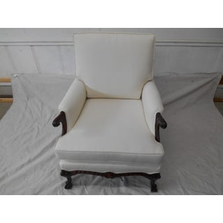 Cream Upholstered Accent Chair Preview
