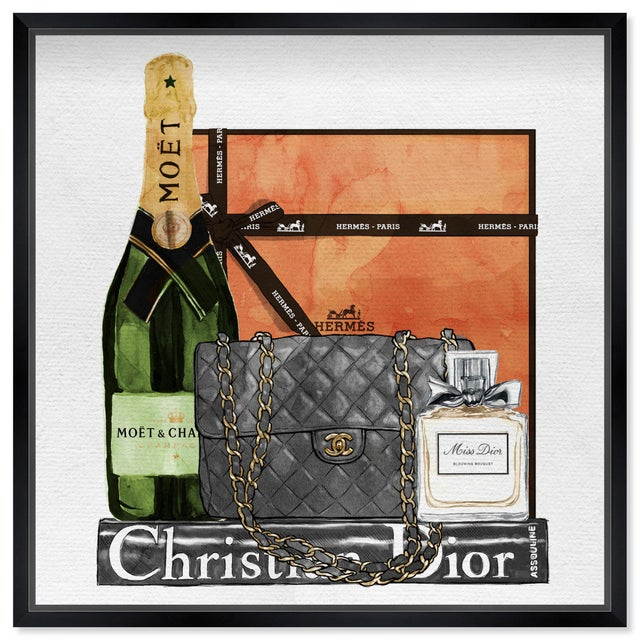 Printmaking Materials Oliver Gal 'Delicate Perfume and Books' Framed Art For Sale - Image 7 of 7