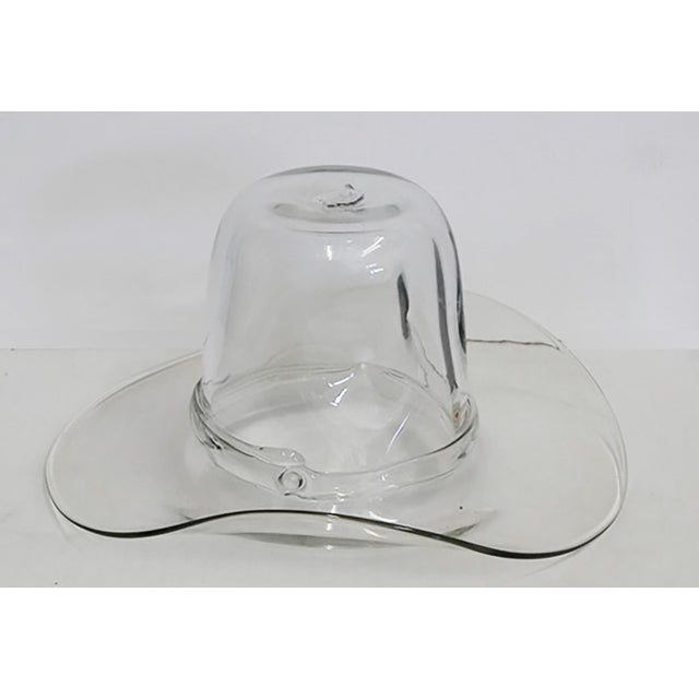 Blenko Hand Blown Cowboy Hat Ice Bucket Great ice bucket for watching a game or for a Texas themed party.