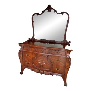 Mid 19th Century French Dresser and Mirror For Sale