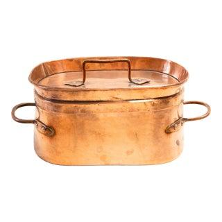 Late 19th Century Copper Daubière Beef Pot For Sale