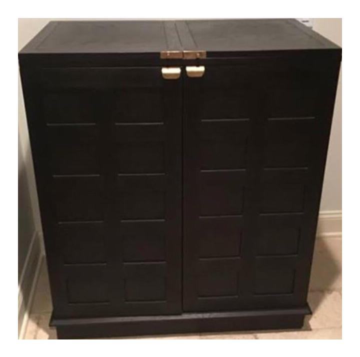 Beau Crate U0026 Barrel Steamer Bar Cabinet