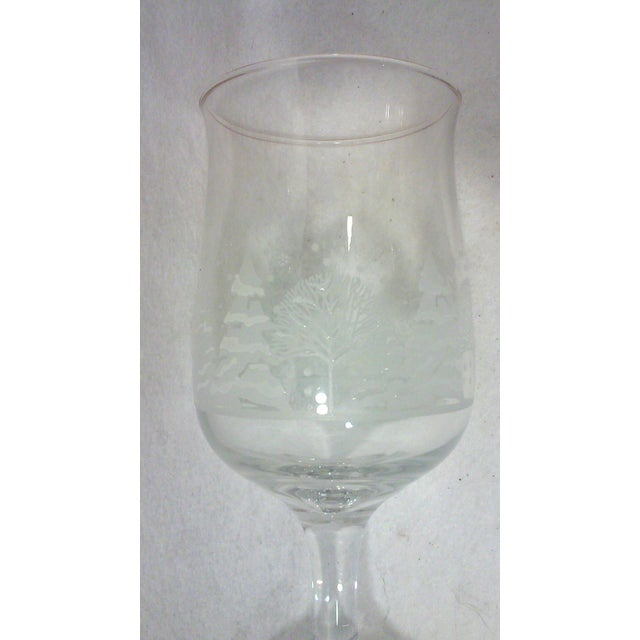 Traditional Winter Wine and Goblet Stemware-Set of Ten For Sale - Image 3 of 5
