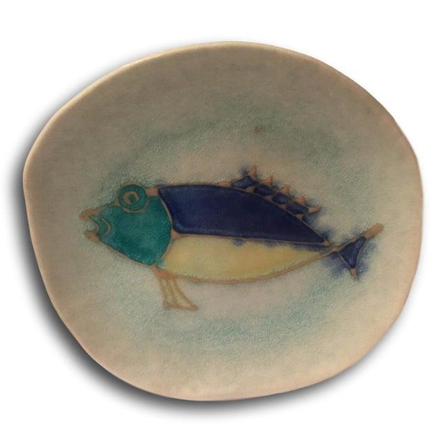Mid-Century Modern Handmade Ceramic Fish Decorative Dish - Image 2 of 5