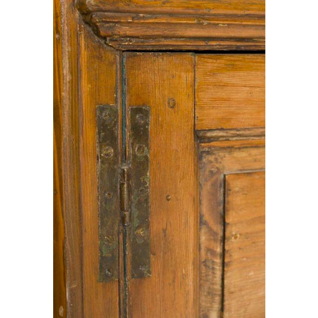 Mid 19th Century Blue Interior Painted Corner Cupboard For Sale - Image 4 of 4