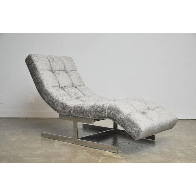 Mid-Century Modern Milo Baughman Wave Chaise For Sale - Image 3 of 7